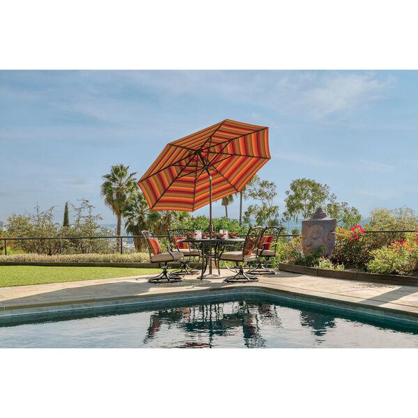 Catalina Ginkgo and Black Push Button Market Umbrella, image 4