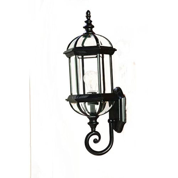 Dover Matte Black One-Light Wall Fixture, image 1