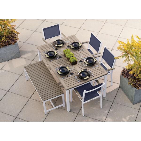 Travira Coated Aluminum Frame 63-Inch Rectangular Dining Table, image 5
