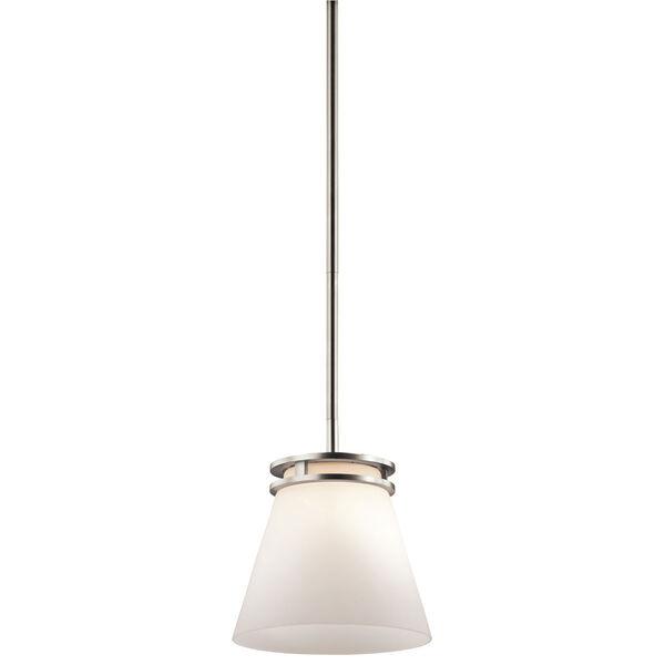 Hendrik Brushed Nickel One Light Mini Pendant, image 1