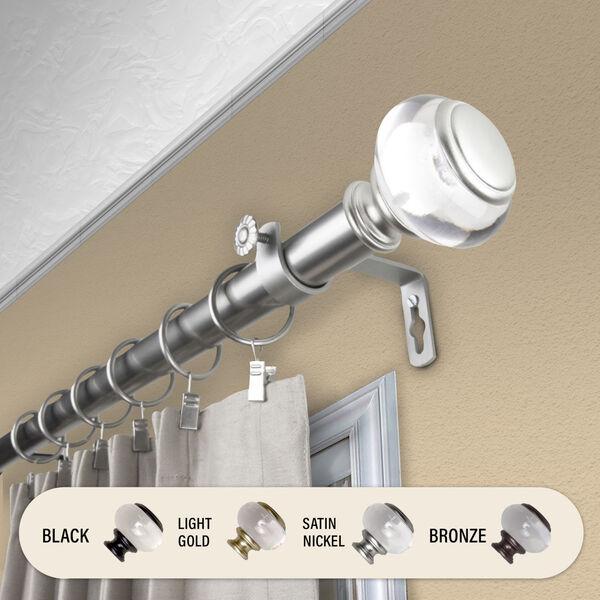 Ironwood Satin Nickel 120-170 Inch Curtain Rod, image 1