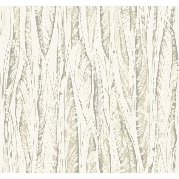 Antonina Vella Elegant Earth Cream Beige Native Leaves Bohemian Wallpaper, image 2