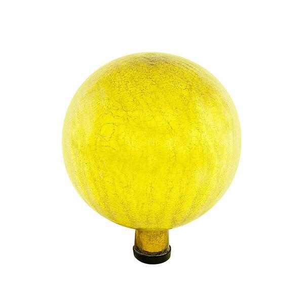 Gazing Globe 10 Inch Lemon Drop Crackle, image 1