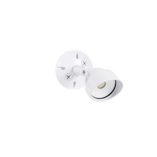 White One-Light Outdoor Security Flood, image 1