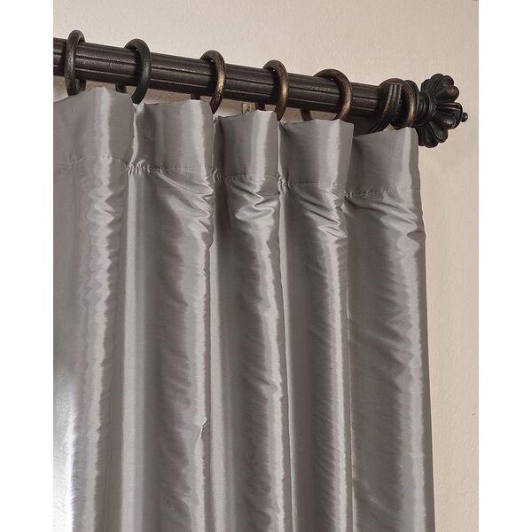 Platinum 120 x 50-Inch Blackout Faux Silk Taffeta Curtain Single Panel, image 2
