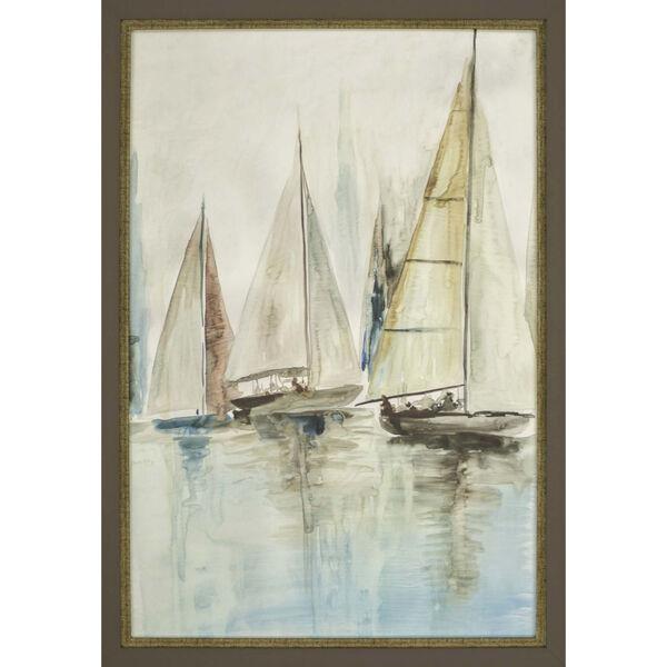 Blue Sailboats III Blue Framed Art, image 2