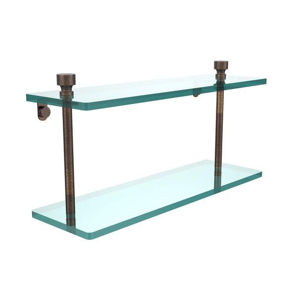 Venetian Bronze 16 x 5 Double 3/8 Glass Shelf, image 1