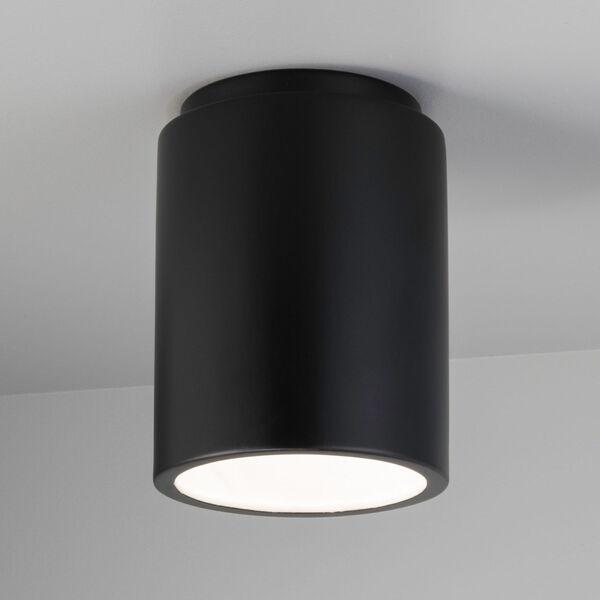 Radiance Carbon Matte Black GU24 LED Outdoor CylinderFlush Mount, image 2