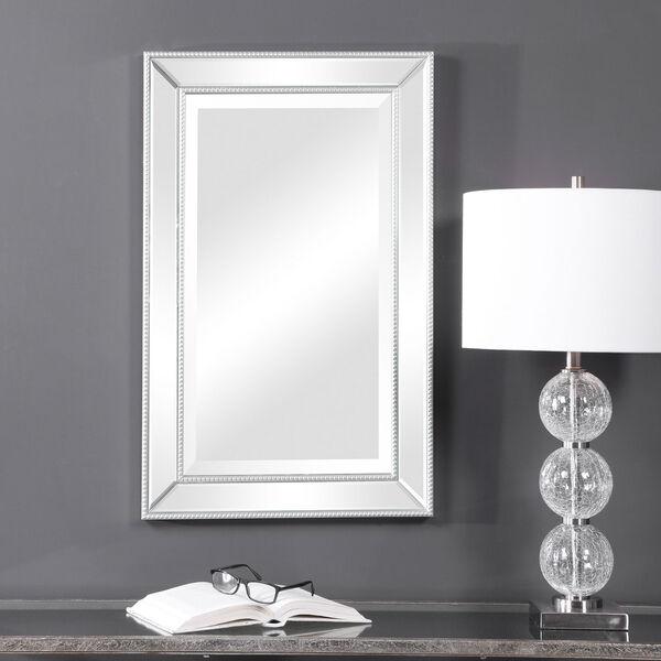 Monroe Silver Framed Rectangular Wall Mirror, image 3