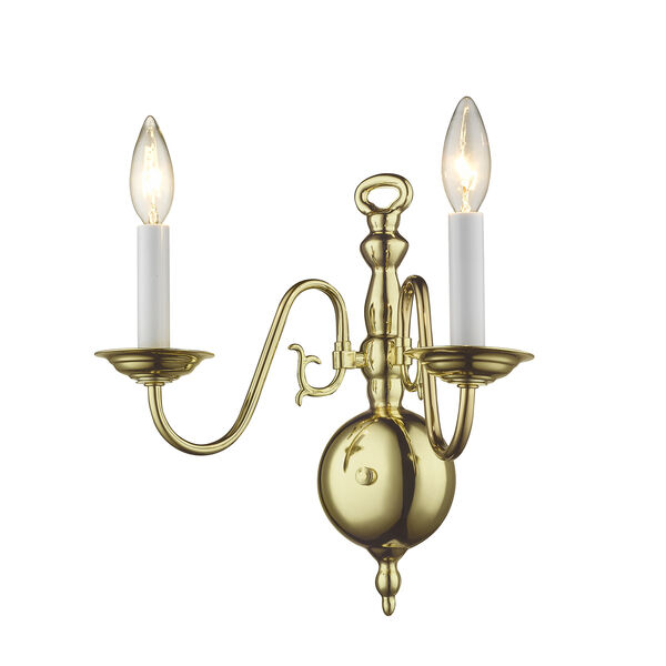 Williamsburgh Polished Brass Two-Light Wall Sconce, image 4