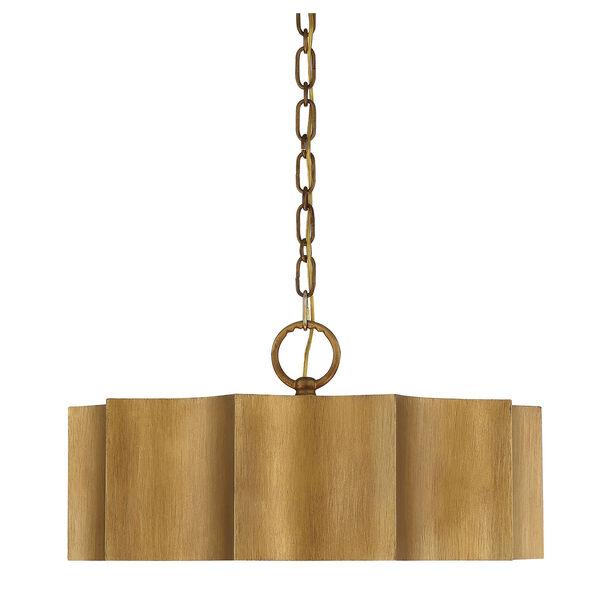 Shelby Gold Patina Three-Light Pendant, image 3