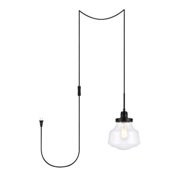 Lyle Black One-Light Plug-In Pendant, image 1