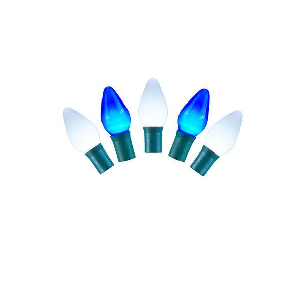 Blue and White LED Ceramic Light Set with 25 Lights, image 1