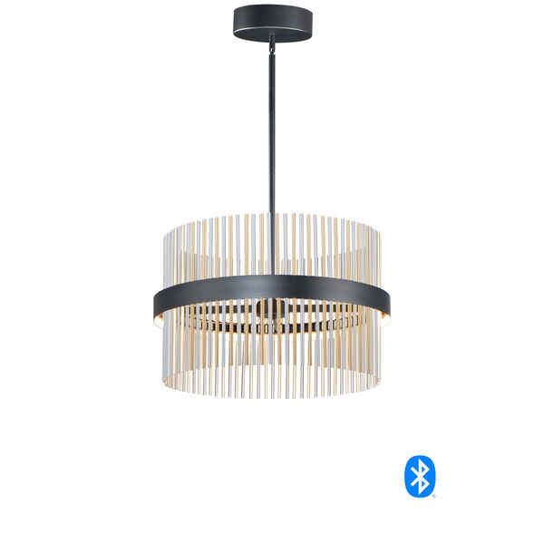 Chimes Black, Satin Nickel and Satin Brass 24-Inch LED Smart Home Pendant, image 1