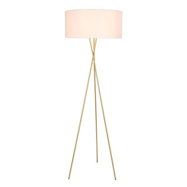 Cason Brass 66-Inch One-Light Floor Lamp, image 1