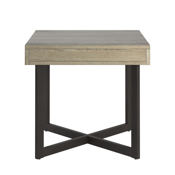 Hunter White End Table with One Drawer, image 3