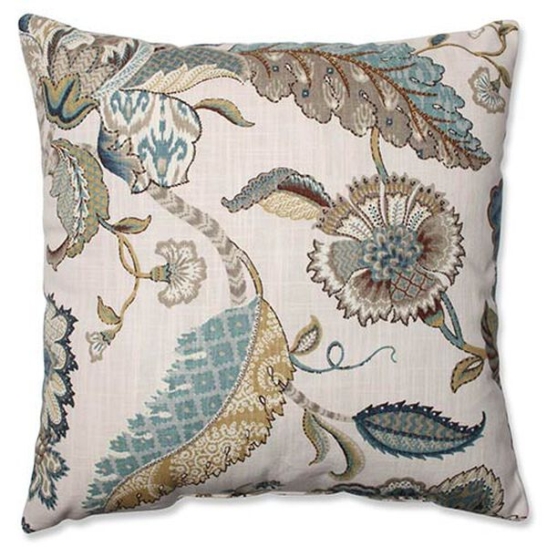Finders Keepers Blue 16.5-Inch Square Throw Pillow, image 1