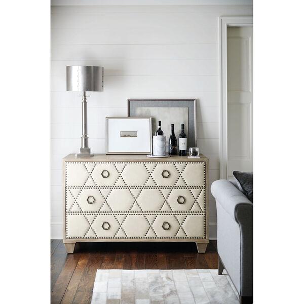 Santa Barbara Sandstone White Oak Veneers and Fabric Drawer Chest, image 3