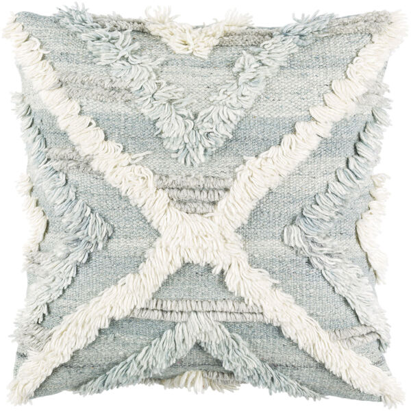 Baracoa Beige, Pale Blue and Light Gray 18-Inch Pillow, image 1
