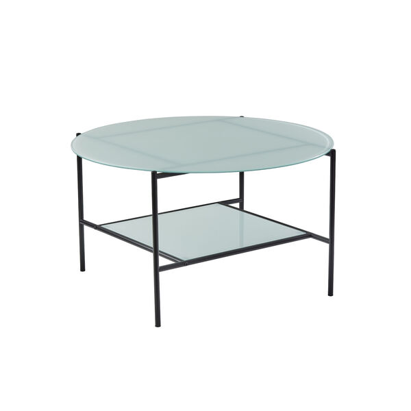 Stephen Black and White Two-Tiered Coffee Table, image 1