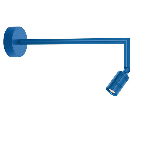 Bullet Head Blue LED Outdoor Miter Arm Wall Sconce, image 1