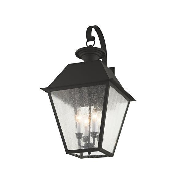 Mansfield Black Four-Light Outdoor Wall Lantern, image 4
