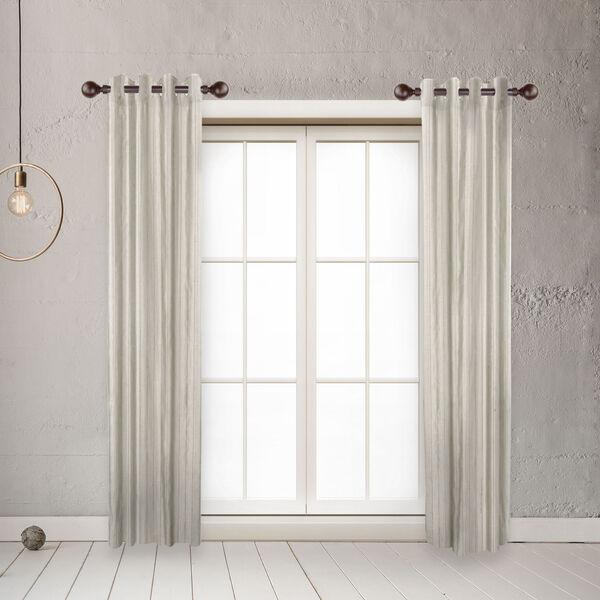 Globe Mahogany 20-Inch Side Curtain Rod, Set of 2, image 2
