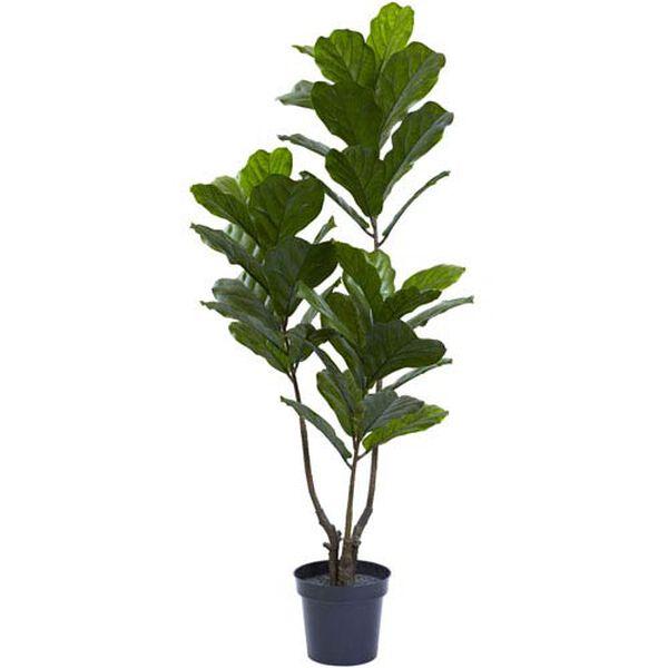 Green 65-Inch Fiddle Leaf Tree, image 1