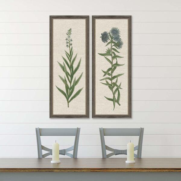 Blue Botanicals Green Framed Art, Set of Two, image 1