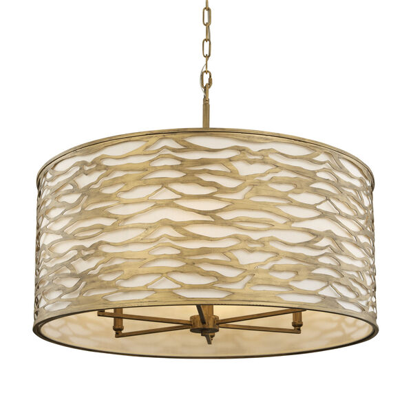 Kato Havana Gold 30-Inch Six-Light Pendant, image 1
