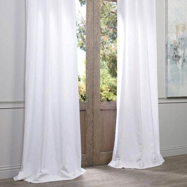 White 96 x 50-Inch Grommet Curtain Single Panel, image 4