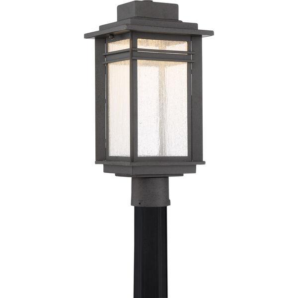 Beacon Stone Black LED Outdoor Post, image 1