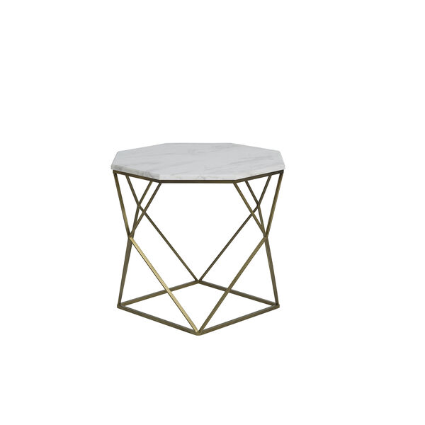 Kristie Volakas Marble And Dark Bronze End Table, image 3