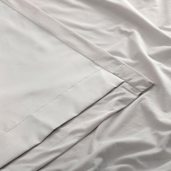 Porcelain White Blackout Velvet Pole Pocket Single Panel Curtain, 50 X 108, image 7