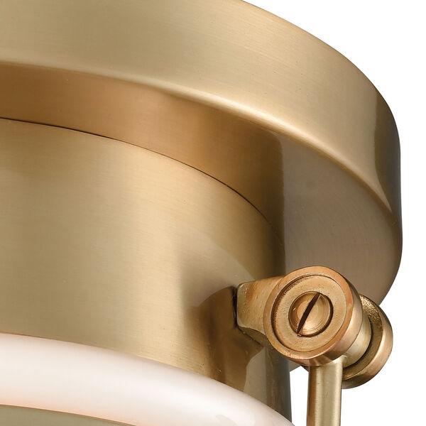 Riley Satin Brass One-Light Flush Mount, image 4