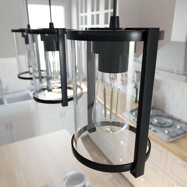 Astwood Matte Black Three-Light Pendant, image 3