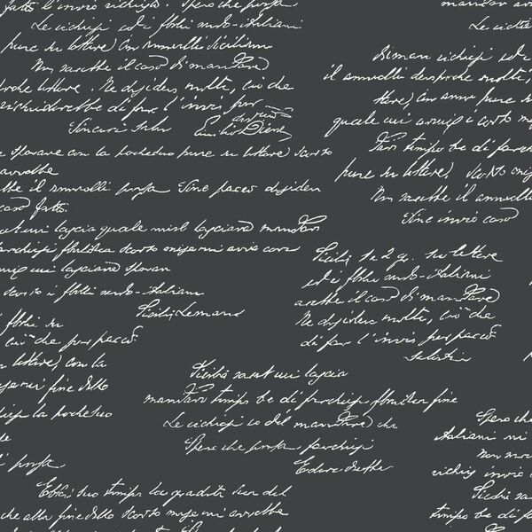 Noteworthy Black and White Removable Wallpaper, image 1