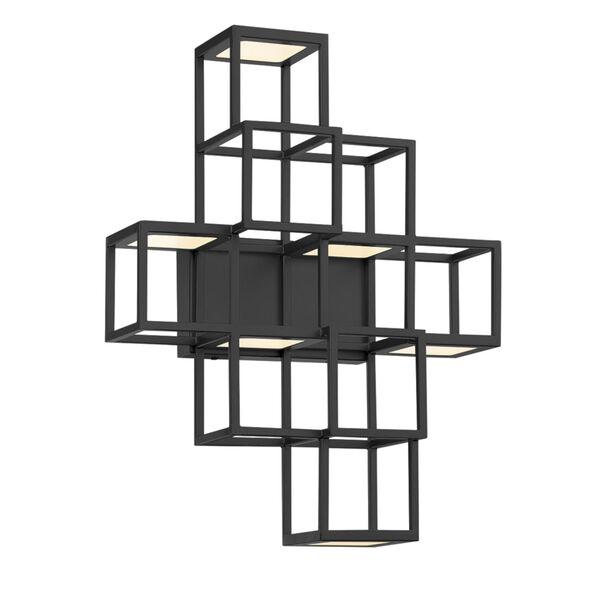 Ferro Black LED Wall Sconce, image 1