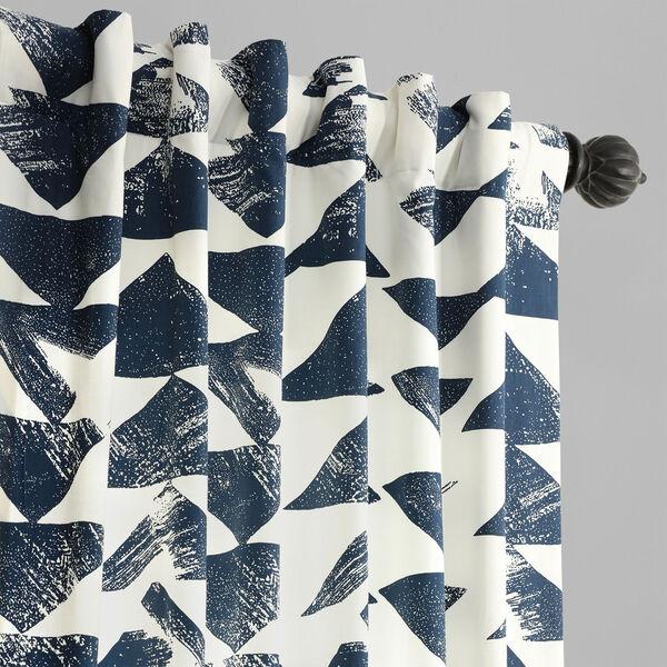 Triad Indigo 84 x 50 In. Printed Cotton Twill Curtain Single Panel, image 4