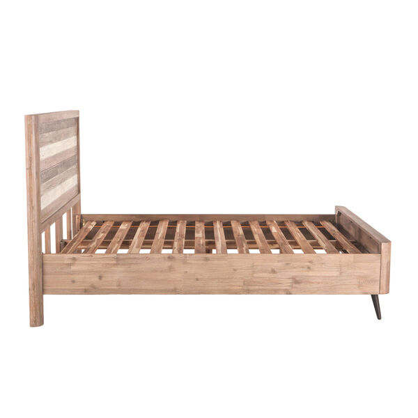 Newport Whitewash Weathered Gray and Antique Black King Bed, image 4