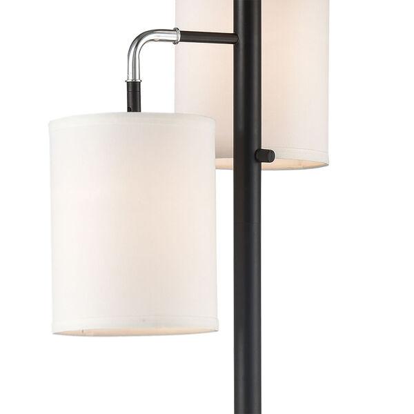 Uprising Black Chrome Three-Light Floor Lamp, image 3