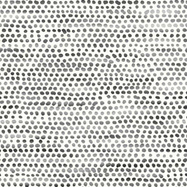 Moire Dots Black and White Peel and Stick Wallpaper, image 2