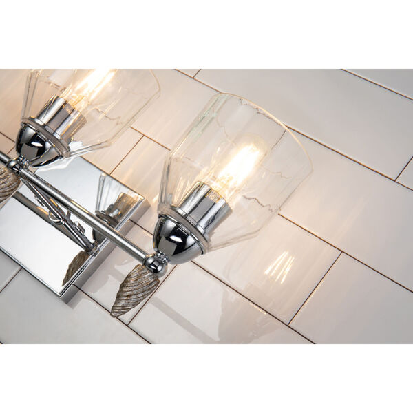 Fun Finial Polished Chrome Silver Three-Light Wall Sconce, image 4