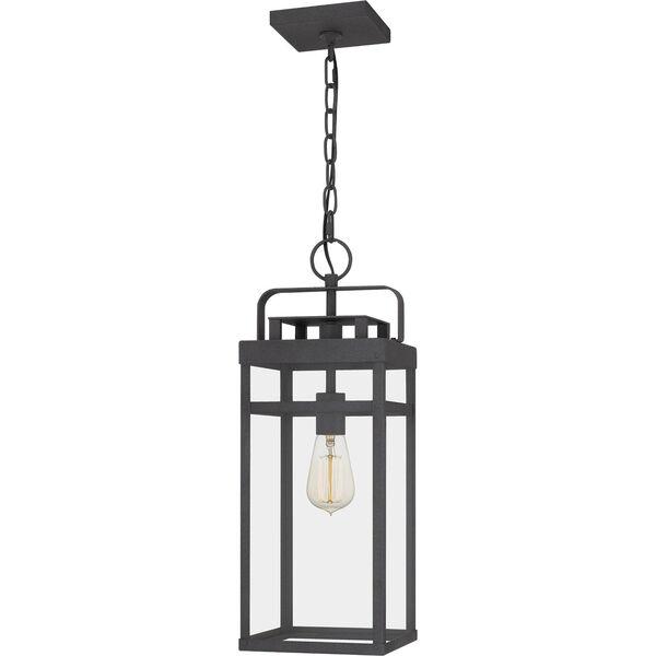 Keaton Mottled Black One-Light Outdoor Pendant, image 1