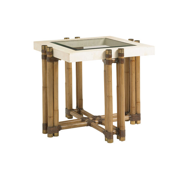 Twin Palms Brown Los Cabos Lamp Table, image 1
