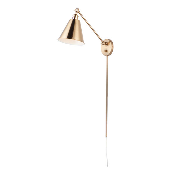 Library Heritage One-Light 8-Inch Wall Sconce with Steel Shade, image 1