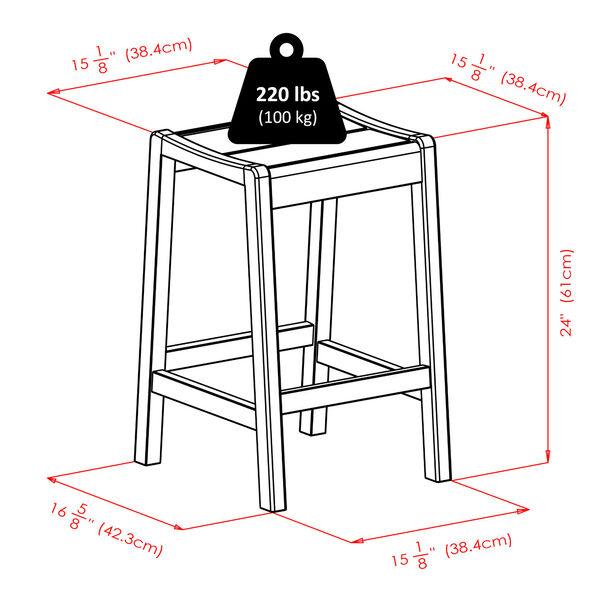 Alicante Walnut Concave Seat Counter Stool, image 6