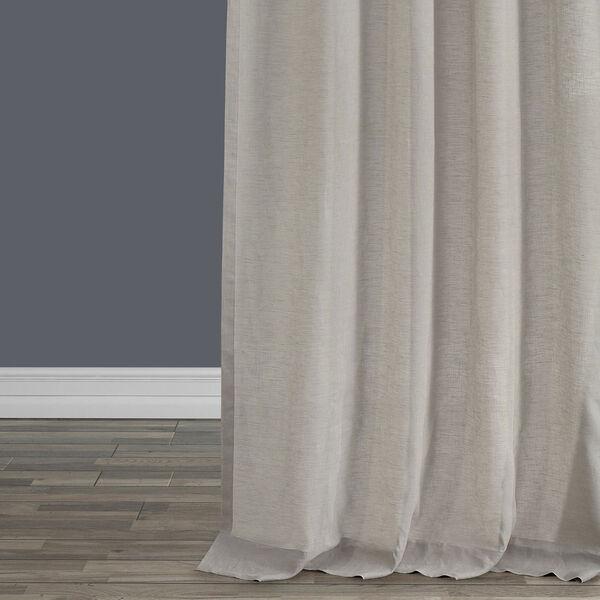 Signature Birch French Linen Sheer Single Panel Curtain Panel, 50 X 96, image 4