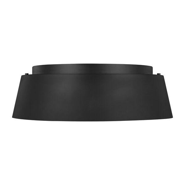 Asher Midnight Black Three-Light Flush Mount, image 2