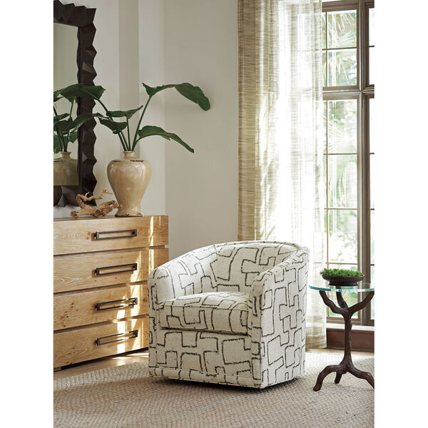Los Altos Ivory Colton Swivel Chair, image 2